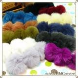 :.*.: SALE  モコモコまんまるラビットファーヘアーバレッタ カラー11色  :.*.