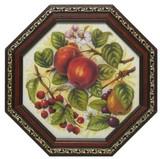 イタリア製 八角 アートフレーム ボタニカル アート 【アップル】 リンゴ