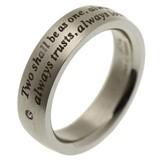 ≪ステンレス リング≫メッセージリング♪サビ・傷・変色に強い!ステンレス製 指輪