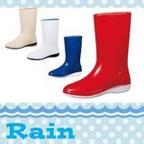 SALE【日本製】<4色>シンプル レディス レインブーツ 長靴 RIP 01