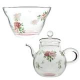 【華やかなローズ柄】ロマンティックローズ ガラス食器