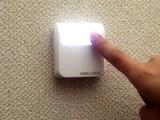 【LEDライト】【押せば点灯!便利に役立つどこでもライト】5LEDスリムポンライト