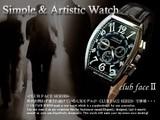 ◇ビザン数字革バンド◇メンズ腕時計 CF-1047