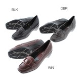 A/W Genuine Leather Buckle Conservative Wide Casual Pumps Colors