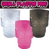 スカル型プラスチックマグ * 大容量の透明プラスチックカップです♪