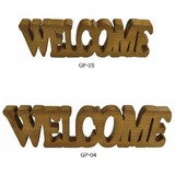 Wooden Plate WELCOME