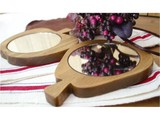 Natural Wood Hand Mirror Wooden Miscellaneous goods