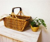 Alarog Handle Basket Natural Antique Miscellaneous goods