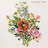 【刺繍シート】花のブーケ