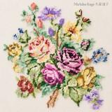 【刺繍シート】華やかなバラのブーケ