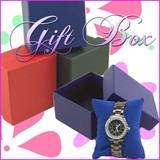 [格安]時計やブレスに★クッション付き!ギフト用紙製ケース♪時計ケース/ブレスケース