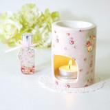 【ブルーミーフラワー アロマギフト】小花柄がキュートなアロマポットとオイルのギフトセット