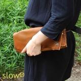 *お財布機能もついて便利な* slowH 「森のクラッチバッグ」