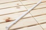 【直送可】のれん用の取り付け棒『つっぱりポール ミニM』ホワイト 適応サイズ70〜120cm