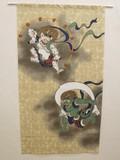 【直送可】日本美術のれん『風神雷神(ふうじんらいじん)』 85×150cm