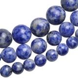 天然石ミックスブルーカラー丸玉1連 【ビーズアクセ】お得な価格にて販売中♪