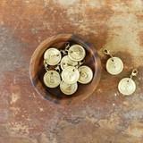 [ブラス]ナンバーチャーム◆ナンバー◆真鍮の趣をスタイルに・・