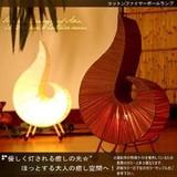 炎から放たれる淡く優しい光。【コットンファイヤーボールランプ】アジアン家具