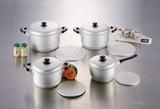 【煮る、蒸す、ゆでるが1つでできます】 ニューセレット アルミ兼用鍋・アルミ2段蒸し器