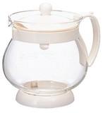 【特価中!】茶葉が動きやすい、丸型ティーポット。ジャンピングリーフP・500  ホワイト JPP-50W