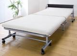 【直送可】宮付きリクライニング折りたたみベッド