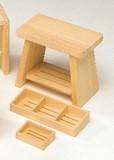 【バス雑貨】 木の風呂椅子/石鹸台/シャンプー台<ぬく森>