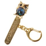 Owl Pearl Design Bag Clip Key Ring Bag Charm