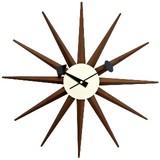 ジョージ・ネルソン サンバーストクロック ウォールナット 掛け時計