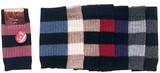 【秋冬】贅沢な天然素材の暖かさ ウール100% カシミヤ&ラム ショート丈レッグウォーマー ボーダー柄