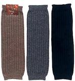 【秋冬のこだわり】贅沢な天然素材の暖かさ ウール100% カシミヤ&ラム ひざ下丈レッグウォーマー 紳士用