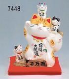 「心を癒す置物とインテリア」招福大開運招き猫(貯金箱)小