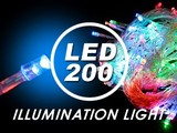 LE014連結可/マルチ200球LEDライトイルミネーションライト クリスマスライト照明モチーフサンタ