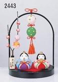 ★ひな祭り★「置物とインテリア」雛人形 【錦彩 つるし飾りわらべ雛(桜橘)】