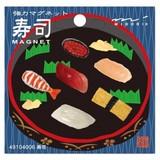 【CUTE柄でしっかり固定】OJ ミニマグネット 6個入り(寿司)