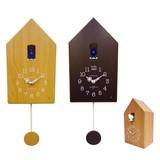 【直送可】13種類の鳥の鳴き声*木の温かみのあるデザイン*カッコー振り子時計