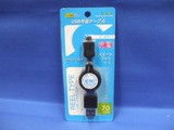 マイクロUSBリールケーブル 充電【電気用品】【携帯電話用品】