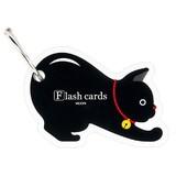 【キュートなデザインで勉強が楽しくなる】アクセサリー感覚の単語カード (ネコ柄)