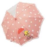 ☆入園準備☆子供傘☆45cm☆くまのがっこう水玉プリントの子供傘☆ピンク
