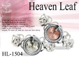 ★ケースあり&なしOK★HeavenLeef☆宝飾ブレス時計-Heaven Leef-☆ HL-1504SV