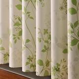 【ドレープカーテン】大人っぽい草花シルエットを描いたナチュラルプリントが魅力 2枚組 ライル