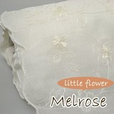 【カフェカーテン用ロール生地】白花刺繍を施したベーシック柄 メルローズ