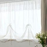 【出窓用カーテン】幅と丈が調節でき、つっぱり棒でも取り付けられる人気商品 シュガー