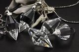 【天然石ペンダントトップ】水晶 双円錐(カット)【天然石 パワーストーン】