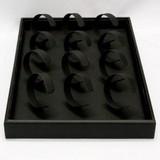【店舗備品】ブレスレット複数用什器 人工皮革 黒【天然石 パワーストーン】
