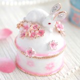 【戦プラ!】 ウサギと桜B宝石箱ジュエリーボックス母の日
