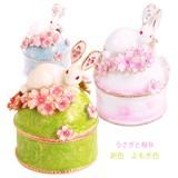 【戦プラ!】春 和風 宝石箱 ジュエリーボックス【 ウサギと桜B 】