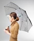 S/S Ladies All Weather Umbrella Suzukaze Electric Fan Attached UV Cut