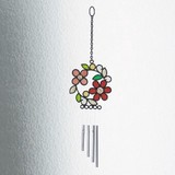 Burietto Stained glass ブリエット ステンドグラス ウィンドウチャイム フラワーリース
