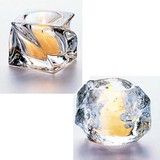 【キャンドルホルダー】<サイズS>重厚ガラスのキャンドルホルダー