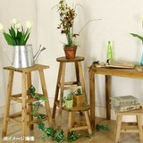 【送料無料】木製フラワースタンドスクエア ハイ/ロー WH/BR【ガーデン】【MOKU】【2種類/2色展開】